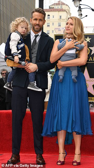 Family: The A-listers (seen in 2016) tied the knot in 2012 and are parents to James, six, Inez, four, and Betty, a