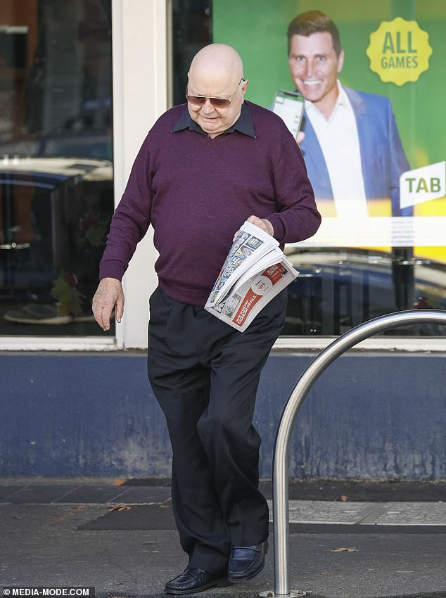 Amputation: The 82-year-old consented to the amputation after spending six weeks at Melbourne's Epworth Hospital, where his condition had been steadily worsening. Pictured in Melbourne onAugust 17, 2019