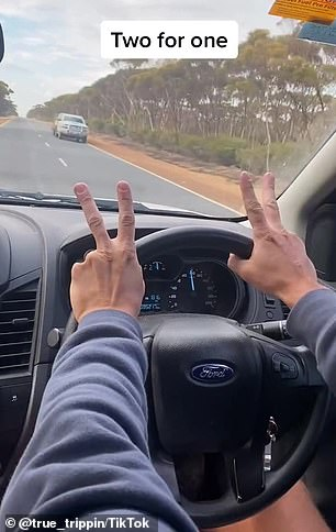The Two for one salute is one of a series of gestures used by regional drivers