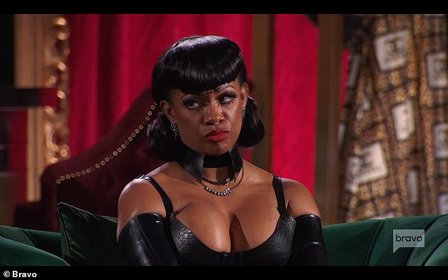 Wrongly-accused:Kenya was referring to an incident years ago in which Porsha wrongly accused Kandi of wanting to drug her and take her to a sex dungeon