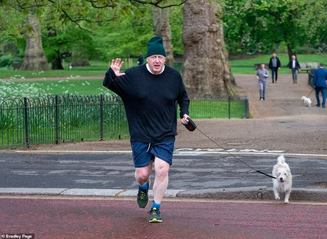 Boris Johnson (pictured running this morning) will herald a return to freedom tonight, vowing that 'Covid will not beat us'. On the back of stunning Tory local election victories, he will say the success of the vaccine rollout allows for further easing of lockdown
