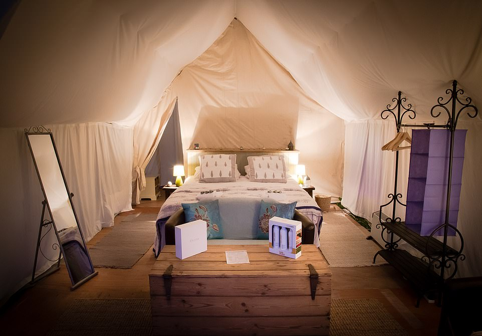 There are 50 'rooms' at the Cadland Estate's Pop-Up Hotel in Hampshire.You can have meals delivered to your tent, giving a whole new meaning to the term 'room service'