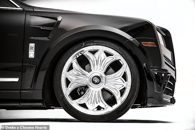 Design: However the car's most notable feature is the explicit message which is printed on the silver part of the wheels in gothic font