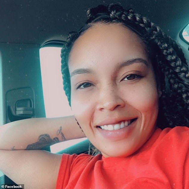 Mother Jordan Herbert (pictured) said her sons Bentlee and Rodney, who attend different schools in Ardmore, were both removed from class and made to sit in the school's offices for the rest of the day because of their t-shirts last Tuesday