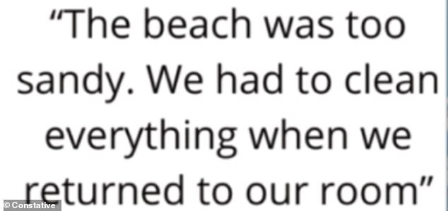One entitled person complained the beach they went too had too much sand and created too much of a mess to clean