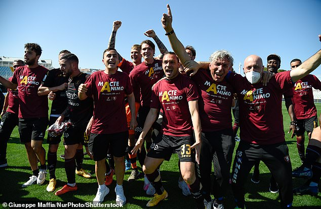 Serie B side Salernitana secured promotion to Serie A for the first time since 1999 on Monday