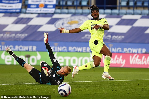 The Newcastle manager also discussed the future of their star manAllan Saint-Maximin (right)
