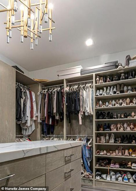 Eye-popping: Luxurious walk-in closets provide more than enough storage for shoes and the like