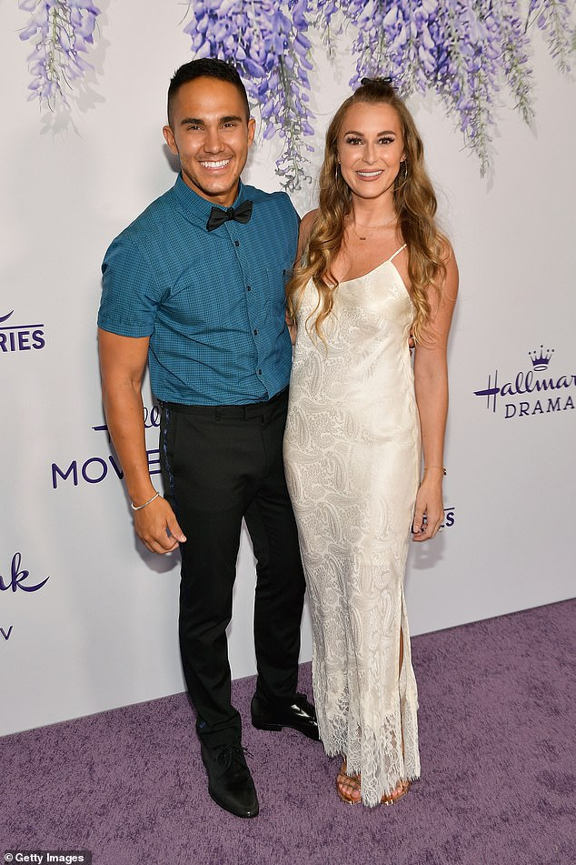 Once again the parents: Carlos, 31, and Alexa, 32 (pictured 2018) both took to Instagram on Sunday with updates on the baby, which they welcomed earlier this month.