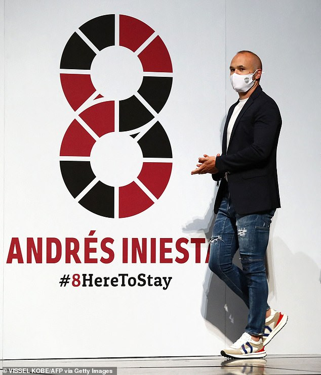 Football legend Andres Iniesta has committed to two more years of playing with Vissel Kobe