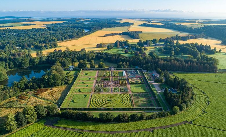 Guests who stay at Gordon Castle in the Highlands are free to access the huge Walled Garden during the daytime