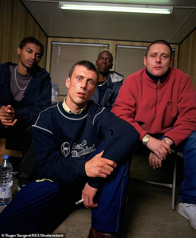 Health: Shaun said that although 'crack and methamphetamine' eroded his teeth, his drug use had no other effect on his health (pictured with Black Grape in 1996)