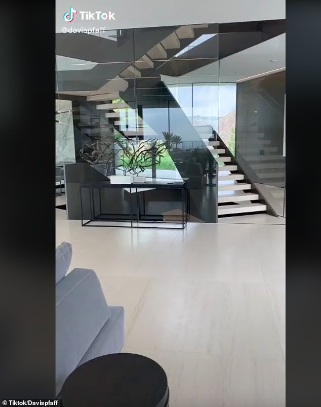 But the video - and the music accompanying it - was identical to a TikTok clip posted by LA-based real estate agent David Pfaff in April 2020