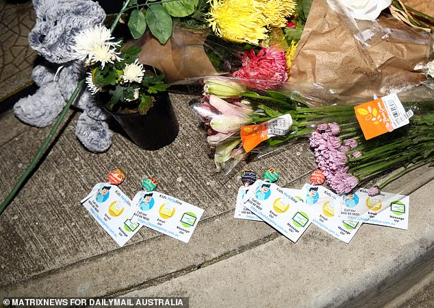 Lollipops attached to Kids Helpline support pamphlets were left at the scene of Spencer's death