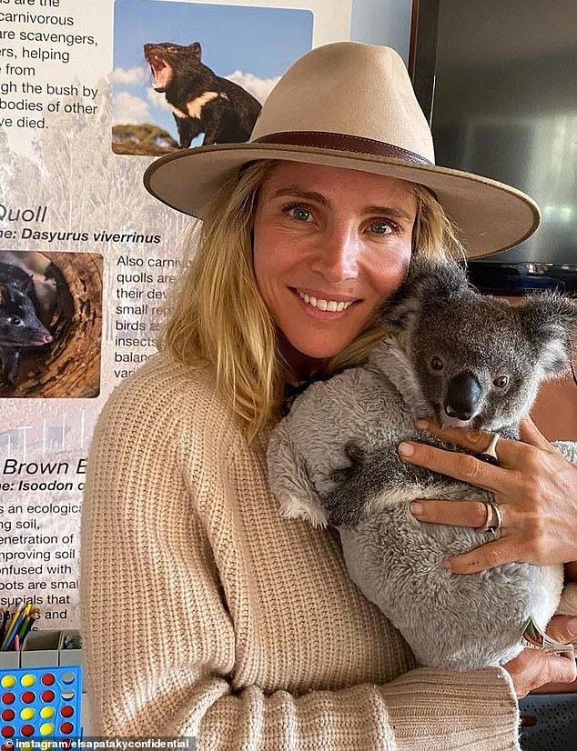 Proud mum! Chris Hemsworth's wife Elsa Pataky (pictured) shared the sweet note her son Sasha wrote on Mother's Day