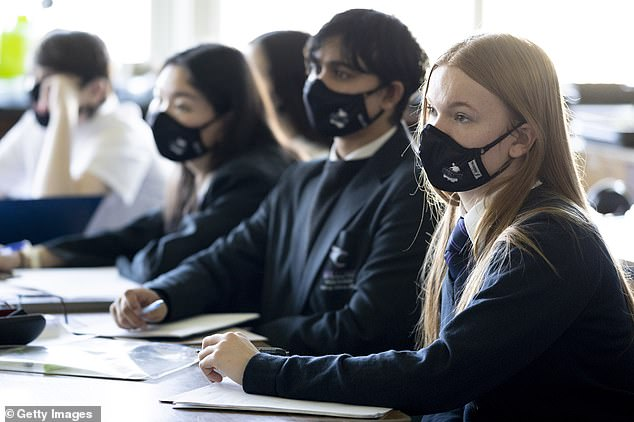 One in forty students - at least one child every two classes - was absent in England last Thursday because of Covid (File)