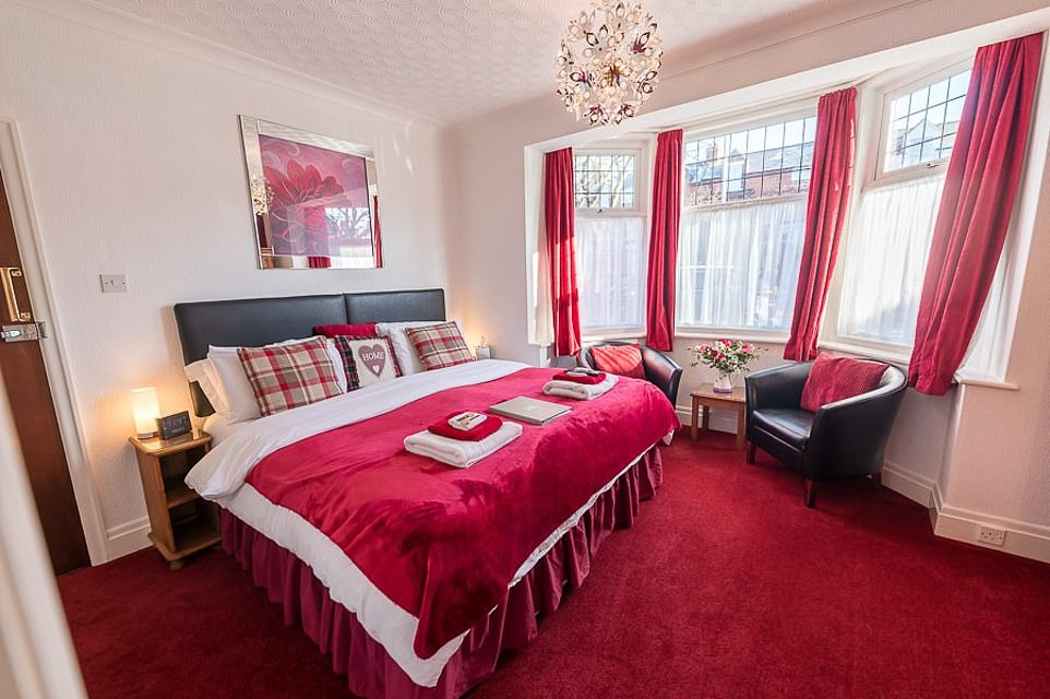 Inside one of the rooms at the Toulson CourtBed and Breakfast in Scarborough. It has been named as the best B&B in the world in the 2021 Tripadvisor Travellers' Choice Awards for hotels