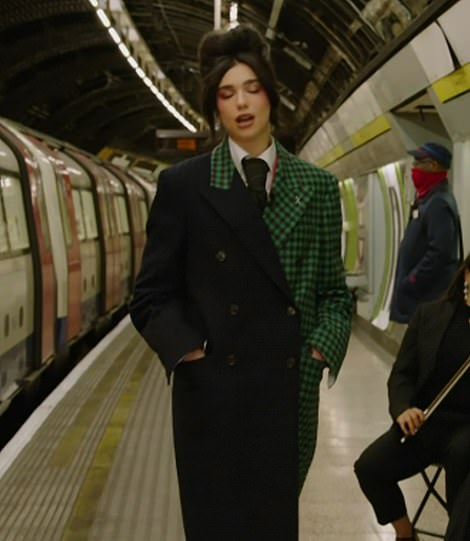 Looking good! The band's stellar showcase then moved into Dua's jaw-dropping performance, which began as she made her way to the O2 on the Underground at Charing Cross station before transitioning into the arena