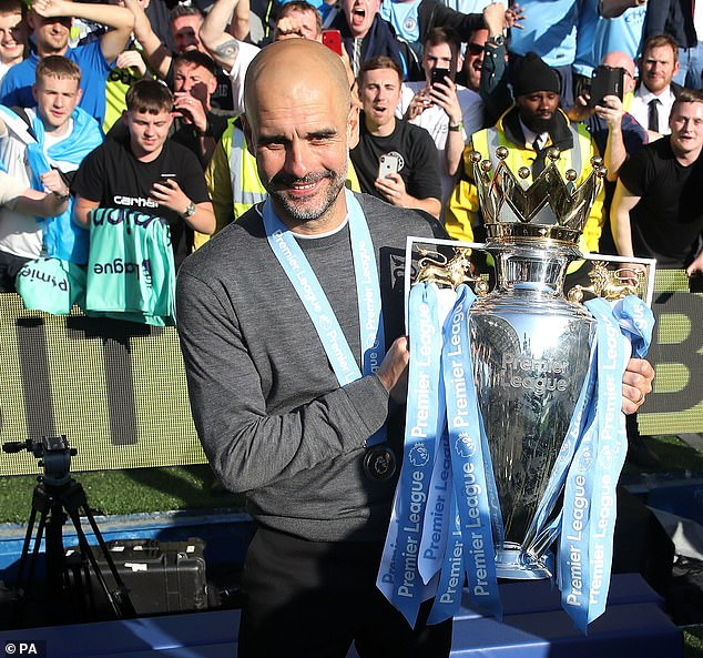 Manchester City boss Pep Guardiola has claimed the Premier League title for third time