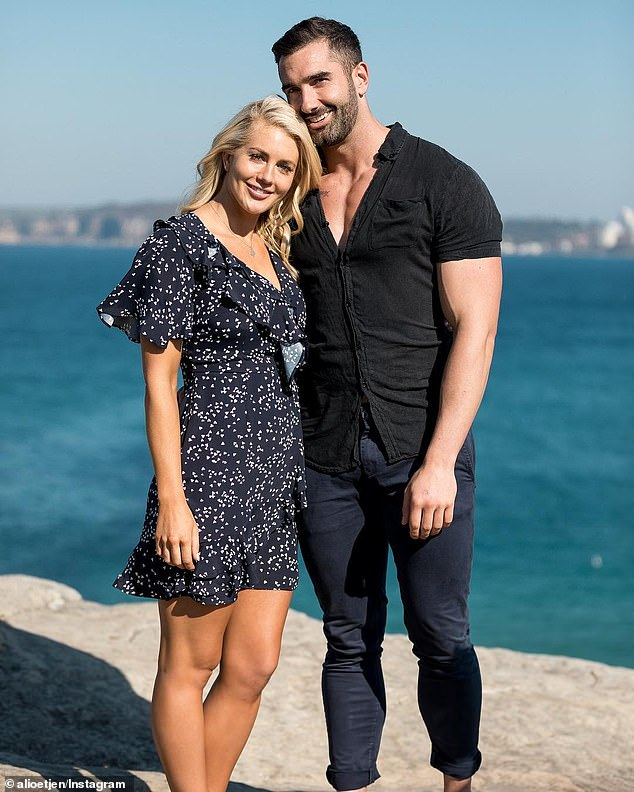 Break-up:Ali split from her winning Bachelorette suitor Taite Radley (right) in July last year, just weeks before filming Seven's military-style series SAS Australia