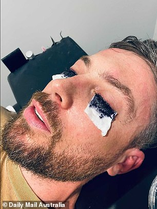 Having the last laugh! Jason, 35, was often mocked by viewers for his patchy, poorly defined eyelashes, and so decided to make them more noticeable by getting them coloured