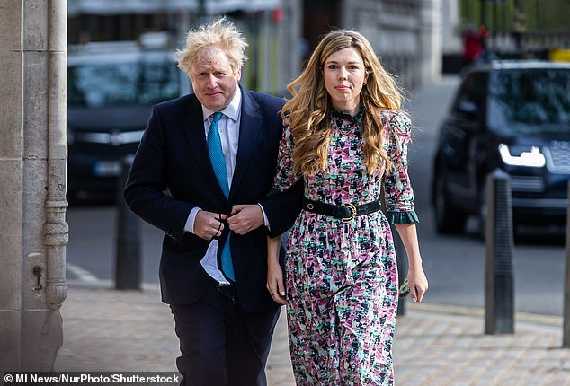 Mr Johnson live in a grace-and-favour flat in Downing Street with fiancee Carrie and their son Wilf, who was born in April last year