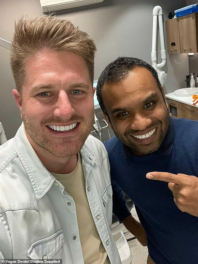 Something to smile about!Dentist to the stars Dr Deepan Duraisamy, a.k.a. Dr. Dee , (pictured together) said that Bryce 'had 10 upper Picasso Porcelain Veneers'