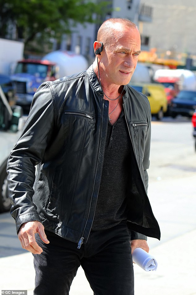 Elliot is back:Christopher Meloni was spotted back at work filming Law & Order: Organized Crime in New York City