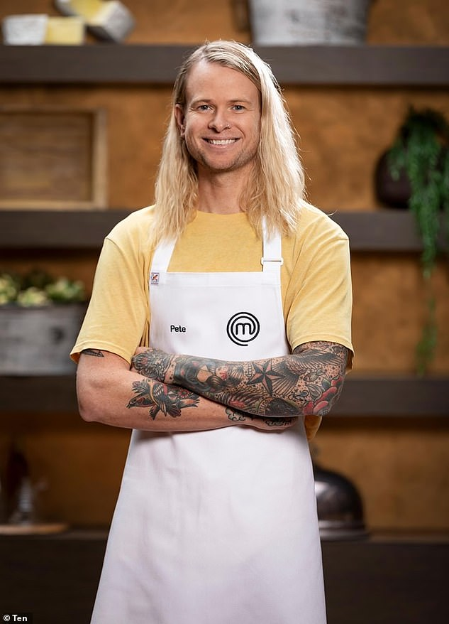Numbers game:Before the finale was recorded, 36-year-old tattoo artist Pete Campbell had been Sportsbet's clear favourite to win the Channel 10 cooking competition