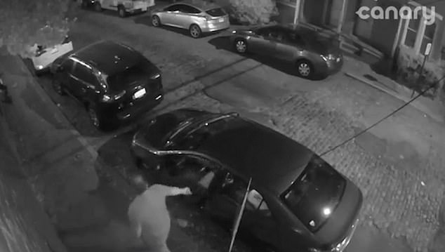 Unbeknownst to the man Surveillance footage captured his mistake, it is not known if the man was intoxicated at the time