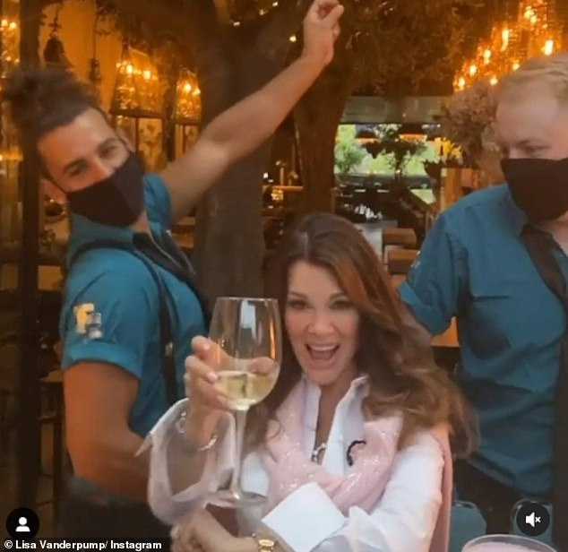 Cheers! RHOBH's Lisa Vanderpump reveals she sent a $132 dinner bill to arch nemesis Kyle Richards' table after they both dined out at the same LA restaurant