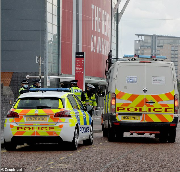 Police, as well as security officials, were well stocked outside the ground for the fixture