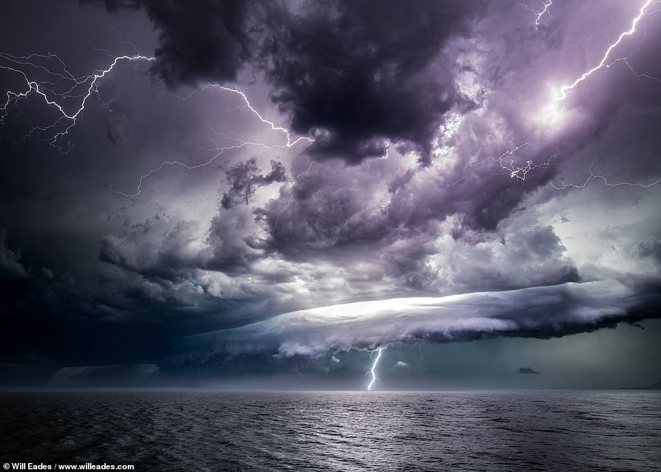 'Savagery moving up the east coast of Australia,' writes Will of this Port Macquarie shot, which shows a storm of such wild intensity that it almost looks CGI-generated