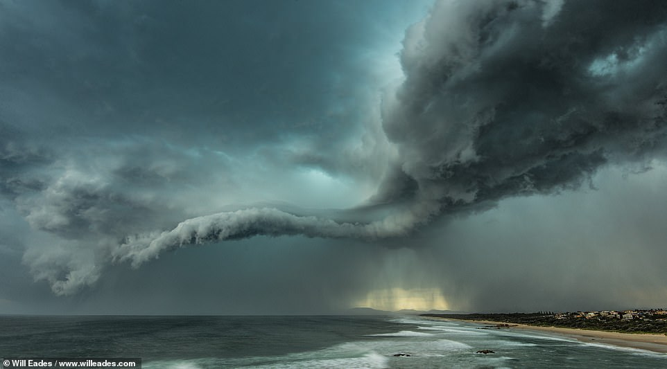 This picture was taken in March 2014 in Port Macquarie and Will credits the storm it shows with helping to cement his passion for storm photography. He says on the Instagram caption: 'This storm rolled through and was like nothing I'd ever seen and it's still one of my favourites'