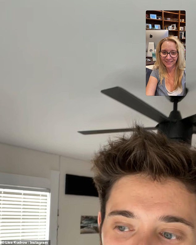 FaceTime: 'FaceTime with my boy to say HAPPY BIRTHDAY!! @juls_magewls' she captioned the screengrabs of their video chat