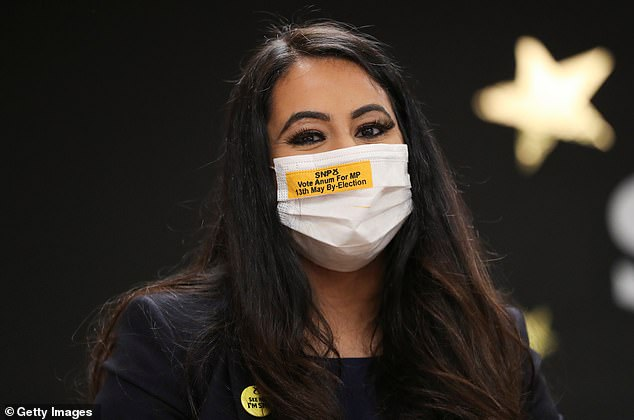 The SNP has won the Airdrie and Shotts by-election, with Anum Qaisar-Javed (pictured) returned as the new MP for the area after securing 10,129 votes