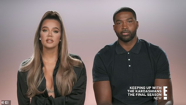 Freaking out:'I'm definitely getting freaked out as the questions go by,' Khloé said, nervous to give up control over the outcome, while Tristan assured her it would all work out