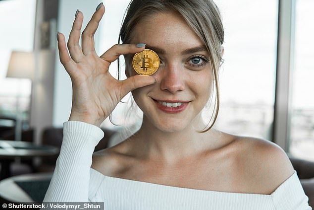 Kunal Sawhney, the founder and chief executive of market analytics group Kalkine, said without government regulation, cryptocurrency investors needed to be prepared to lose the lot. Pictured is a stock image of a Bitcoin token