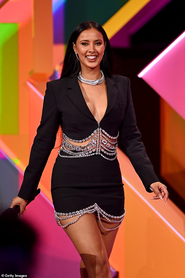 Confession: Maya Jama kept the laughs – and blushes – coming during Thursday night's instalment of Celebrity Juice, when she made an X-rated confession during a game.
