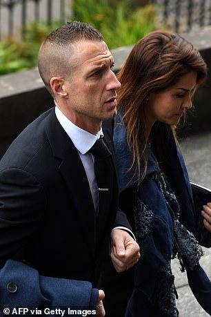 Vignal at Fernando Ricksen's funeral in 2019