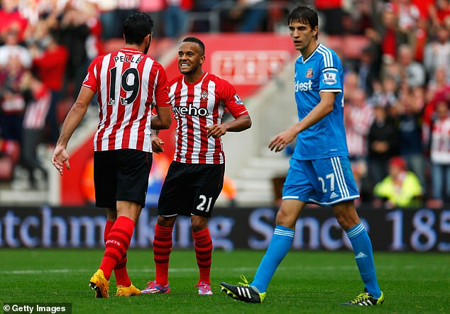 Santiago Vergini (right) scored the first of three Sunderland own goals in a 8-0 top-flight loss