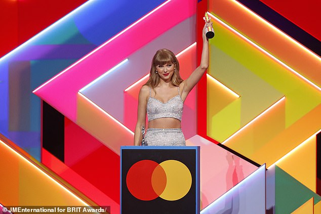 Mentor: Taylor was at the BRITs to receive the Global Icon Award. She has been showing her support for Olivia since April 2020 when Rodrigo performed a cover of Swift's song Cruel Summer during MTV's #AloneTogether concert series. Seen in May 2021