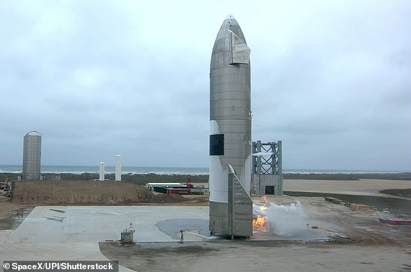 The next SpaceX Starship prototype will be sent into orbit, launching from Texas and making a 'soft ocean landing' off the coast of Hawaii, an FCC filing revealed. Pictured is SN15 after it made a safe landing on the pad May 5
