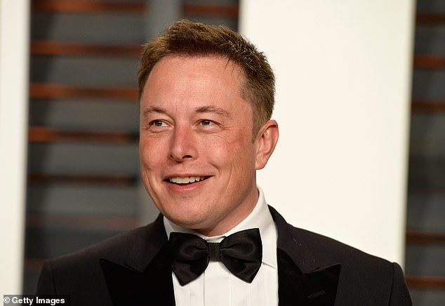 The arrival of Musk's (pictured) jet in Britain comes after it was revealed the electric car company recently sold £200 million selling Bitcoin, before Musk announced it would not accept the cryptocurrency for purchases