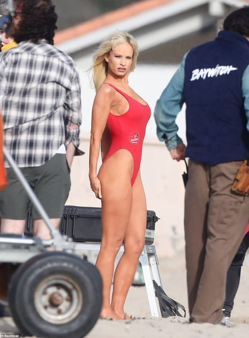Sultry: Lily looked absolutely stunning in the swimwear