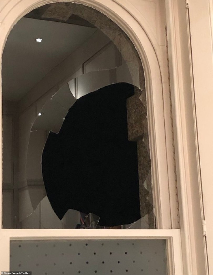 Oops! The star revealed that a wood pigeon accidentally flew through one of her glorious windows, breaking it in the process