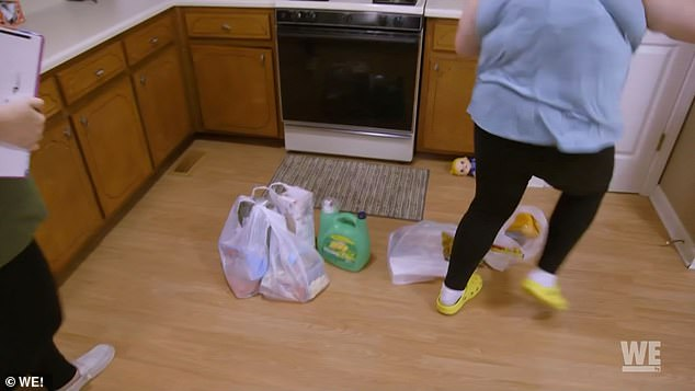 Rude:Once they get into the kitchen, Alana just tosses the bags of food onto the floor to go back to her school Zoom session