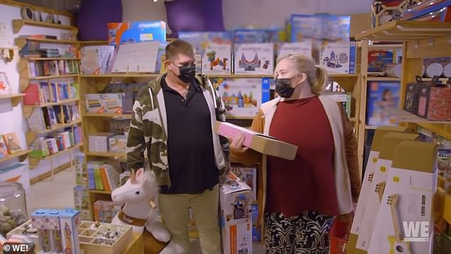 Overcompensating:After the call, June and Geno head to a local toy store near their Florida home where she seems to snap up everything in sight for her granddaughter
