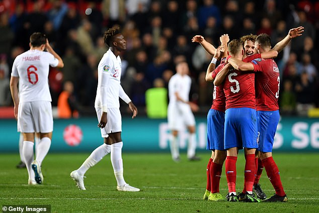 But they face a tough Euro 2020 group stage, playing Croatia, Scotland and the Czech Republic - the latter beating them during qualifying for this summer's finals (above)