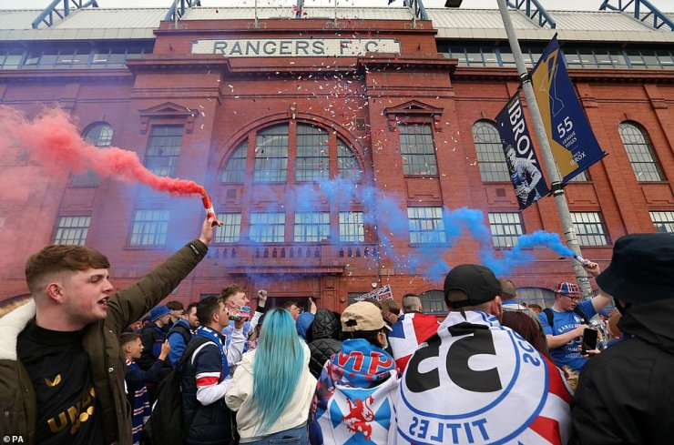 Rangers released a statement on Friday calling for fans to respect the lockdown rules in place - but this was ignored